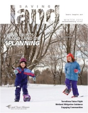 "Cover of ""Saving Land"" magazine, Winter 2012"